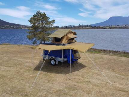 Roof Top Camper Trailer with Bat Wing Awning