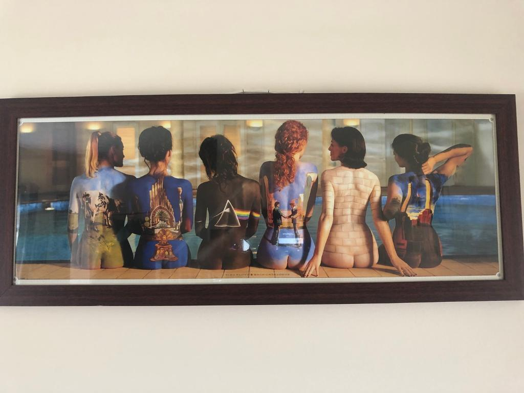 Rare Pink Floyd The Back Catalogue Panoramic Print Framed In
