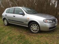 AUTOMATIC - 2005 NISSAN ALMERA - 1 YEARS MOT - ONLY 58K MILES