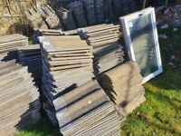 Double Roman Grey Redlands Reclaimed roof tiles