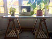 Ikea Linnmon Adjustable Trestle Table/Desk - White