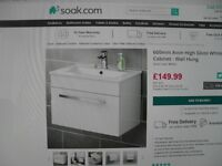 BRAND NEW VANITY UNIT WITH SINK AND TOILET PAN WITH SOFT CLOSE LID