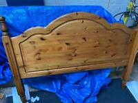 Kingsize solid pine headboard