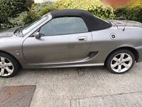 MG TF convertible silver/grey