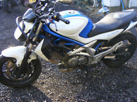 Suzuki gladius 650 SFV with both restricted and full power ECU also lowering kit, well maintained