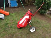 Spalding golf bag and trolley £15 o.n.o