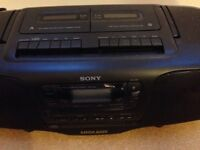 Sony CD/ radio /tape recorder and player with remote control