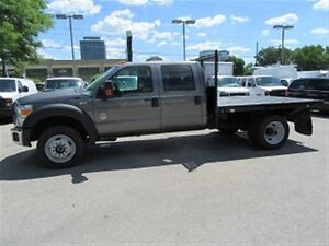 2012 Ford F-450 Crewcab 4x4 diesel with 9 ft flat deck