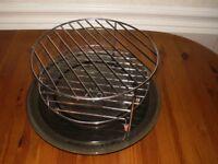 Panasonic turntable, glass dish, 2 racks and enamel tray
