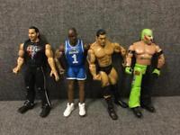 Retro WWE WRESTLING JAKKS SPECIFIC ACTION FIGURES 2003 2007 Bundle 4 Rare SDHC