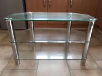 Glass TV Stand *LIKE NEW* *MUST GO*