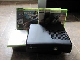 Used Microsoft Xbox 360 slim bundle with thrustmaster Ferrari steering wheel