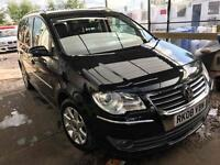 2008 vw touran 2.0 tdi 6 speed sport full service history one owner from new