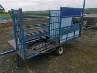 Harrington sheep handling system trailer with turnover crate farm livestock tractor small holder