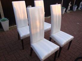 4 white-cream dining chair