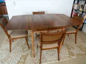 drexel projection dining table with 4 chairs danish modern eames era