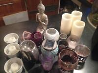 LOADS of candle holders, oil burners, battery candles
