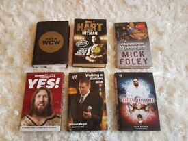 WWE book collection - 6 books, very good condition. WCW, Daniel Bryan, Mick Foley, Batista - £15