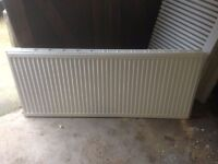 FULL SET OF 7 DOUBLE RADIATORS INCL THERMO VALVES - SUITABLE FOR 2-3 BED HOUSE