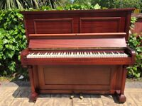 Upright Dark Burgundy Piano Super Clean Look in Excellent for Beginners (Delivery Possible)
