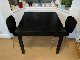 IKEA Extendable Dining Table + 2 Chairs
