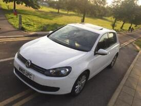2010 10 Volkswagen VW Golf 2.0 Tdi Se/Match Manual White Sunroof Bluetooth P/Sensors Cruise CTRL FSH