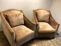 Two stunning armchairs