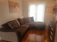 DFS Glamour Curve Couch/Sofa ***Excellent condition*** Colour: Brown/Mink