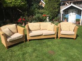 Three piece sofa and chairs