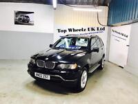 BMW X5 3.0D SPORT DIESEL AUTOMATIC, 2002 PLATE, 12 MONTHS MOT & FULL SERVICE HISTORY, BLACK.