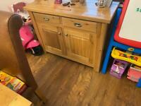 Dining table 6 chairs an matching side board in solid oak immaculate condition