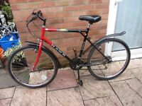 mens hawk mountain bike 22inch frame £45.00