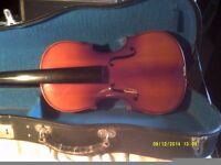 TWO CHINESE SKYLARK FIDDLES BOTH in SOUND CONDITION, BUT NEED SORTING OUT + CASES