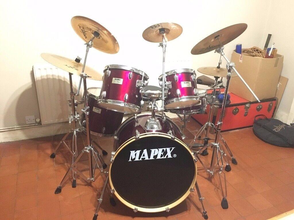 Mapex V series 5 piece Drum Kit with Zildjian Cymbals