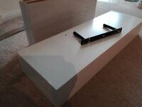 Floating shelves white - 3 x 120cm, 3 x 80cm, 2 x 60cm