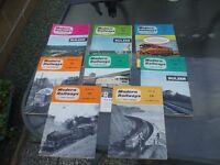 8 ISSUES MODERN RAILWAYS MAGAZINES 1962