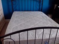 Metal Double Bed & Mattress