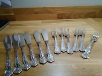 Set of 6 Fish knives and forks