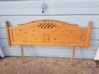 Double/King size carved pine headboard