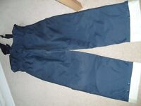 Musto dungaree sailing trousers size M