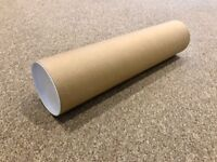117x Custom Made Wide Carboard Tubes With Plastic End Caps A2+ (559 x 127)