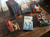Various VHS tapes and DVDs - Star Wars, 24, radiohead...