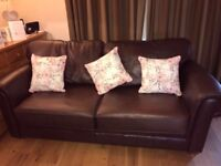 Marks and spencers leather sofa bed (double ) colour