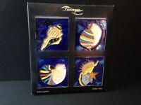 4 Ceramic Art Coasters/Tiles