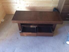 Bentley designs akita solid wood tv stand