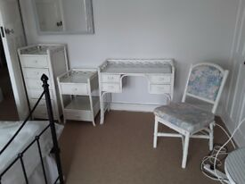 Bedroom drawer units and dressing table and chair