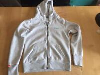 Grey superdry zip up hoodie