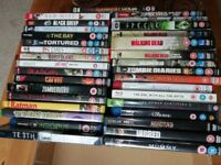 33 horror dvds / blu rays - job lot!