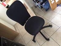 Ikea black adjustable home office chair