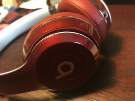 Beats by Dr. Dre (red wired + case)